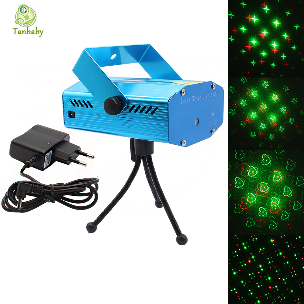 Tanbaby Laser Stage light Mini Red &amp; Green Stary Disco laser stage lighting Party Pattern Lighting Twinkle 110-240V EU US plug <br><br>Aliexpress