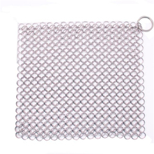 Happy Sale  Finger Iron Cleaner Stainless Steel Chainmail Scrubber sep927
