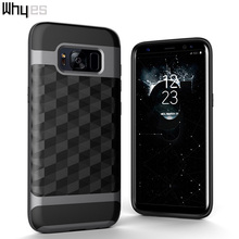 For Samsung Galaxy S8 Plus Case Dual Layer TPU And PC Anti-Shock Hard Armor Rhombus Brushed ShockProof Popular Cover Cases