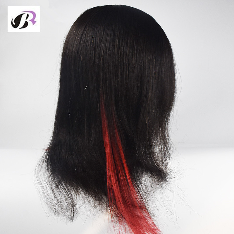 New Arrival 2017 Hotsale 16inch Mannequin Hairdressing Training Head 100% Human Hair More Thicker Black Hair Mannequin Head