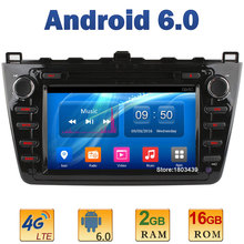 "8"" Quad Core 2GB RAM+16GB ROM 4G LTE SIM WIFI Android 6.0 Car DVD Player Radio Stereo For Mazda 6 Ruiyi Ultra 2008-2012 DAB+ AUX"