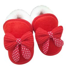 Baby Girls Shoes Toddler First Walker Warm Winter Boots Soft Sole Prewalker(China)