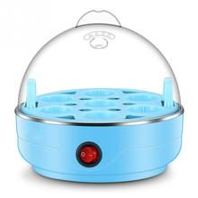 Multifunctional Electric 7 Egg Boiler Cooker Mini Steamer Poacher Kitchen Cooking Tool US Plug 350W Light Blue