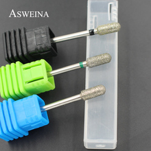 ASWEINA 3 Size Smooth Top Diamond Nail Drill Bits Mill Cutter Nail Files Nail Electric Drill Manicure Device Machine Accessory