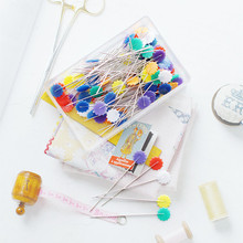 Looen Brand 100 pcs Mixed Colors DIY Sewing Accessories Patchwork Pins Flower Tool Needle Arts Pin Sewing Pin with Box