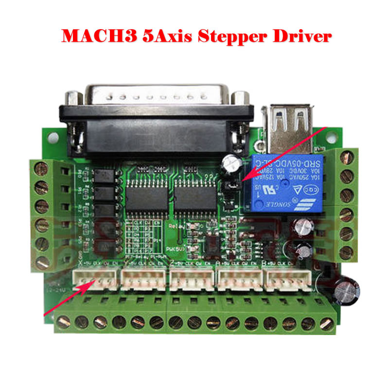 mach3 5axis stepper driver with optocoupler isolation For CNC Single Stepper Motor Driver Controller <br><br>Aliexpress