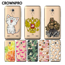 CROWNPRO Soft Silicone ZTE Blade V7 Lite Case Cover Colored Painting Case For ZTE Blade V7 Lite Case TPU