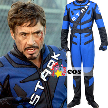 Halloween costumes for adult Iron man costume superhero Tony Stark Iron man racing suit cosplay costumes leather motorcycle suit
