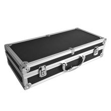 "16"" Aluminum Locking Foamed Tactical Pistol Handgun Case Carrying Storage Box for Hunting Airsoft(China)"
