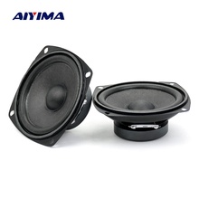 Aiyima 2PC 3inch Audio Speaker 4ohm 10W Full frequency Speaker For Audio Satellite Box DIY(China)