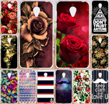 Beautiful Rose Peony Tulip Flower Butterly Pattern Perfect Design Cell Phone Case Fundas For Meizu M3 Note Cases Cover Shell