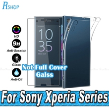 XZ XA Tempered Glass Film For Sony Xperia XZ XA X Compact Performance E5 Z5 Z4 Z3 Z2 Z1 Z M5 M4 Ultra thin TPU Soft Silicon Case