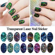 Lilyangel Nail Art Sticker Manicure Nail Stickers Decoration Laser Metal Water Transfer Nail Sticker Transparent Sticker Paper(China)