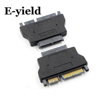 E-yield Slimline SATA Adapter Serial ATA 7+15 22pin Male to Slim 7+6 13pin Female Adapter