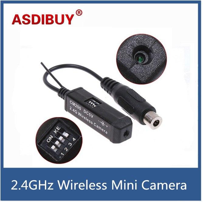 Smallest 2.4GHz wireless mini camera tiny camera wireless transmitter wholesale price built-in Mic Cam CM200<br><br>Aliexpress