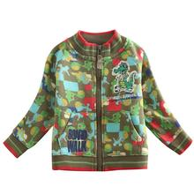 baby boys coat spring sutumn nova boy jacket 2016 new dinosaur carton fashion boy jacket children coat boys clothes warm wear(China)