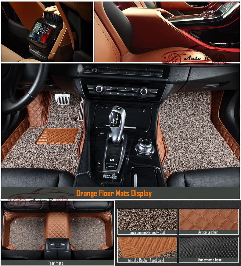 double layer coil leather car floor mats 11