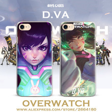 Game Overwatch D.VA Scratch-Resistant Hard PC Phone Case Cover Shell For Apple iPhone 7PLUS 7 6SPLUS 6S 6PLUS 6 5 5S SE 4 4S