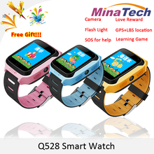 2017 New Q528 Y21 Touch Screen Kids GPS Watch with Camera Lighting Smart Watch Sleep Monitor GPS SOS Baby Watch PK Q750 Q90