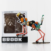 6.7inch Japanese Anime Cartoon Two Years Later One Piece  Action Figures PVC Toys Doll Model Collection ZERO Brook Play Guitar