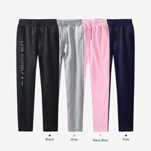 LUCKYFRIDAYF bts KPOP pants 100% cotton love yourself Trousers casual Sweatpants Jogger Pants slim fit Kpop Men/Women plus size(China)