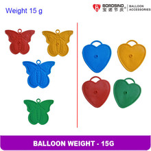B616  30 pcs/bag Free shipping 15 grams Butterfly Foil Balloon Weight