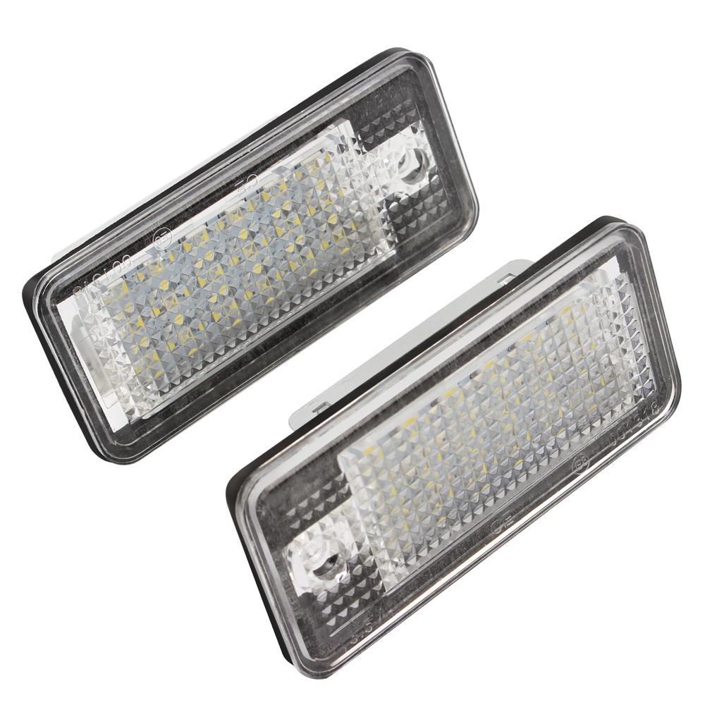 18 LED 5W License Plate Lights For Audi Q7 A3 S3 S4 B6 A6 C6 A8 S8 Car Styling Automobile Lighting Accessories<br><br>Aliexpress