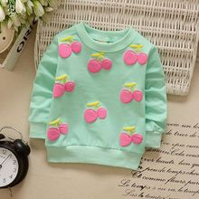 2017 Latest Baby Girl Casual Sweater With Pattern Long Sleeve Baby Girl Sweater 4 Colors Suitable For 0-2 Years(China)