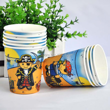 Free shipping 16pcs/lot Pirate Theme Printing Paper Cups Tableware for Kid's Birthday Party Party Decoration(China)