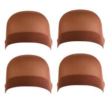 8pcs Wig Caps Brown Soft Comfortable High-Elastic Wig Cap(China)