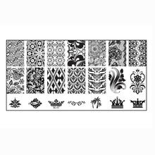 2016 Apply special nail polish on image plate 1PC Nail Art DIY Nail Stamp Stamping Image Plate Print Nail Art Template Anne(China)