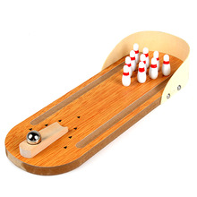 Mini Wooden Desktop Bowling Game Kids Children Developmental Toy Gift Decor Baby House Entertainment Toys(China)