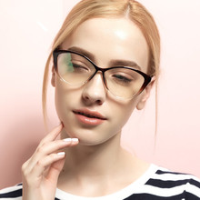 BOYEDA TR90 Fashion Spectacle Frame Female Grade Clear Glasses Vintage Computer Eyeglasses Retro Women Cat Eye Optica Eyewear