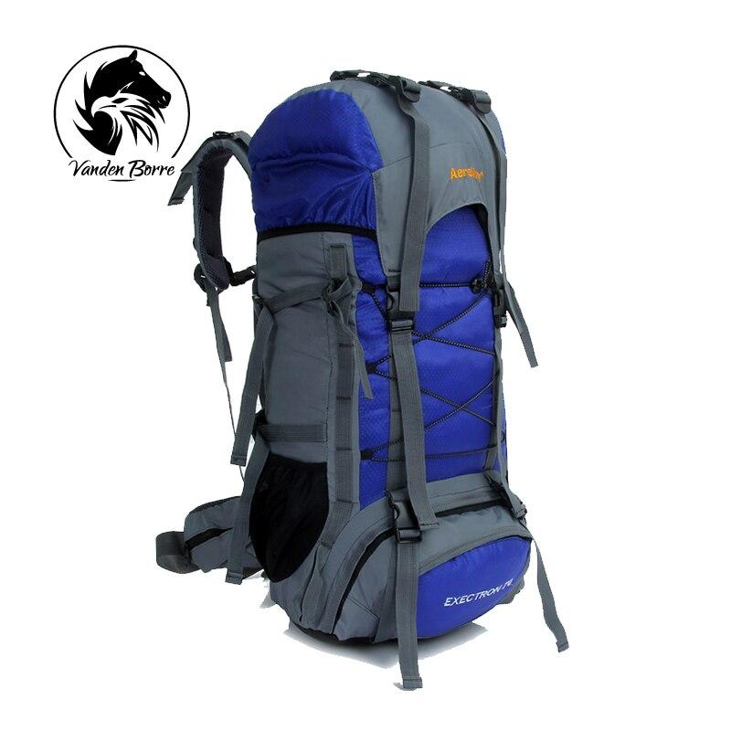 Large hiking camping backpack Outdoor bag Rucksack Mountaineering Bag waterproof nylon backpack Mens travel bags<br>