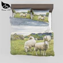 Dream NS 3D effect prints Quilt cover products High definition photo print cute little sheep Dekbedovertrek SMY042(China)