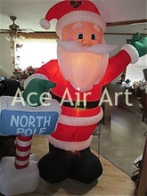 inflatable ice lolly shop Christmas decoration inflatable Santa Claus
