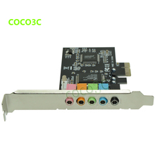 PCI-E 6 channel connector technology true digital 5.1 Sound card CMI8738 chip PCI Express 5.1 stereo audio card(China)