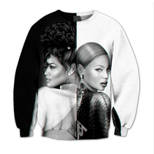 Hip Hop Tops 3D Sublimation print Crewneck Sweatshirt Rihanna Beyonce Yin Yang fleece men/women streetwear plus size S-5XL R877