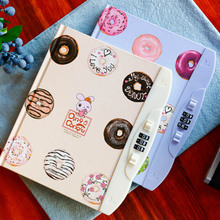 2017 Kawaii Children Creative Hard Copy Book Password Notebook Student Diary With Lock Notebook Random Color