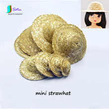 3/6/8/12 Point,DAL/Sharon Doll Head Decoration Accessory Strawhat,8 Size Handmade Doll Rustic Style Mini Straw Hat S0092L(China)