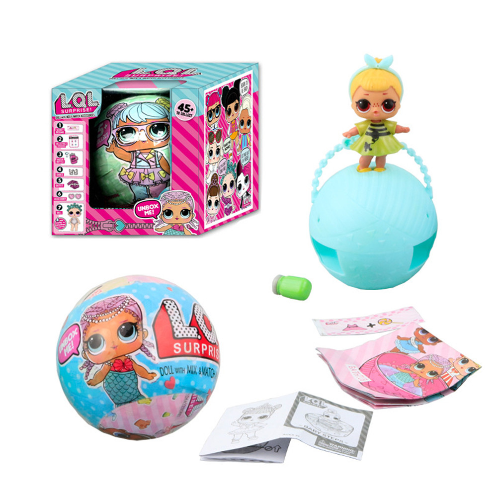 New LOL Water Jet Dolls surprise single doll series dolls with accessories color random dress up Unpacking Dolls Toy Magic Egg(China)