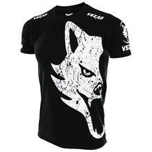 MMA Jerseys VSZAP GIANT classic mma t shirt rashguard muay thai shirt fighting giant T-shirt wind Wolf cotton Elasticity(China)