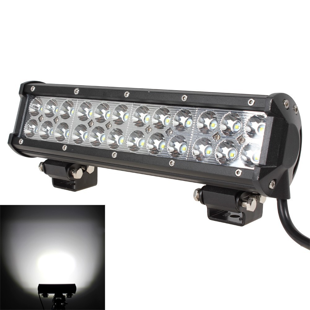 "1PC 12"" 72W LED Light Bar 7200lm Combo Beams 24pcs 3W Led Chips Waterproof for 12V 24V off road Van Camper Wagon ATV AWD SUV 4W(China (Mainland))"