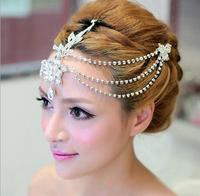 New Fashion Water drop Rhinestone women hairpins Noble Crystal Crown for Bride Wedding Diadem hair jewelry accessories