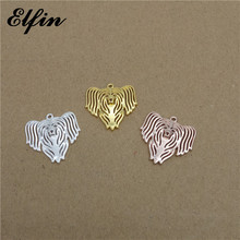 Elfin Wholesale 2018 Chinese Crested Pendants Animal Fashion Pet Dog Jewelry Chinese Crested Women Pendant Best Gift For Friend(China)
