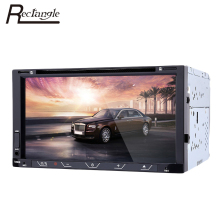Rectangle 7080B 7'' 2 Din Car Video DVD Player Bluetooth Touch Screen MP5 FM Radio Player With Remote Control Rear View Camera