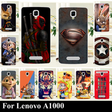 High Quality Transpatent Hard Plastic Color Paint Case For Lenovo A1000 A 1000 Mobile Phone Cover Case