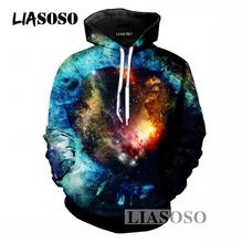 LIASOSO Harajuku New Design Men/Women Hoodies 3D Print Space Universe Pullover Sweatshirts Casual Hooded Tracksuit Clothing T827(China)