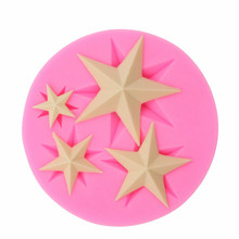Five-pointed Star Sugar Cake Soft Silicone Mold Chocolate Craft Die Cake Dessert Decorative Mold DIY Cake Cookies Baking Gadgets(China)