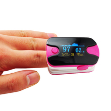 CE&FDA proved! KH-H3 Pink Fingertip digital Pulse Oximeter SpO2 and pulse rate monitor Color OLED display with alarm with bag